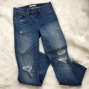 """MADEWELL 9"""" HIGH-RiSE SKINNY Size 25 distressed"""